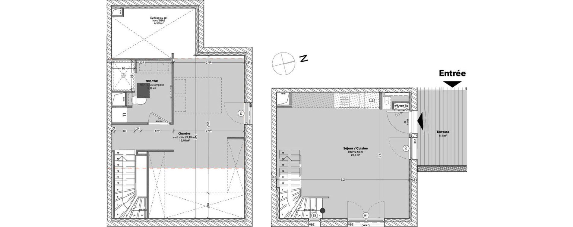 Duplex T2 de 44,05 m2 à Arcachon Centre