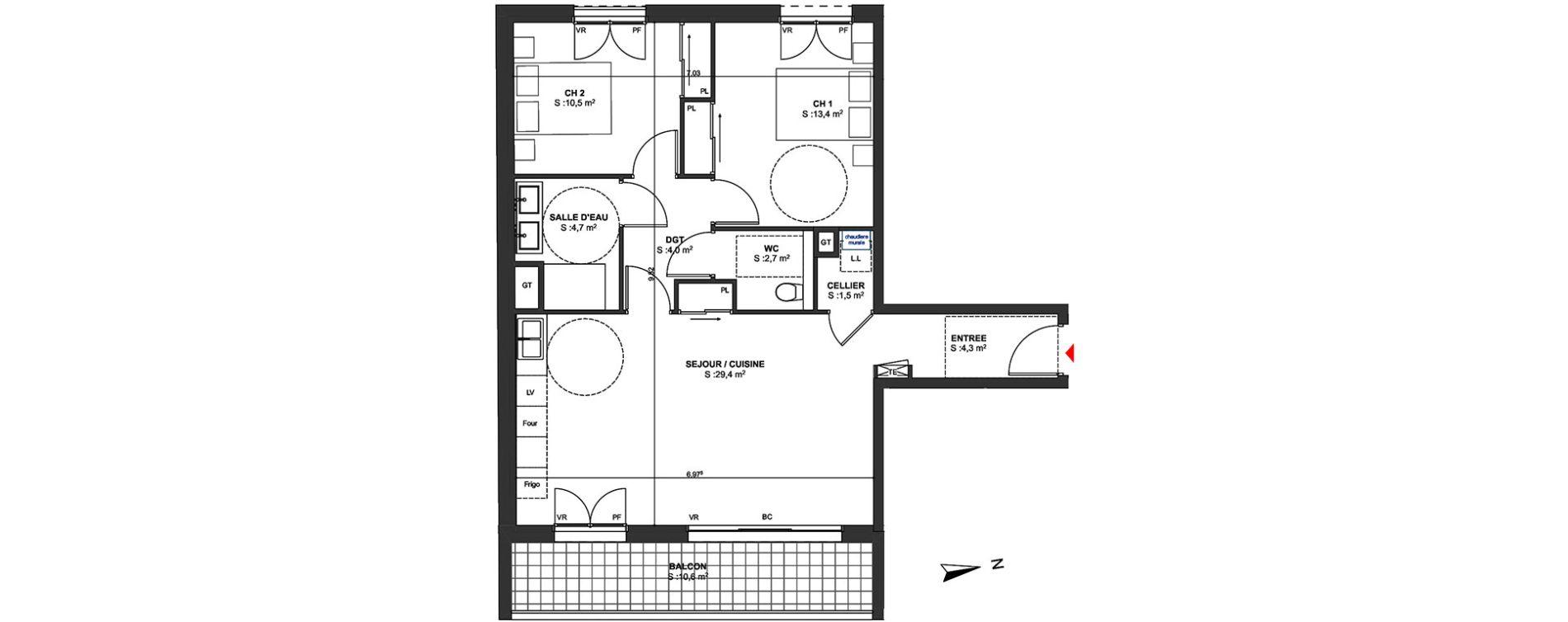 Appartement T3 de 70,50 m2 à Arcachon Centre