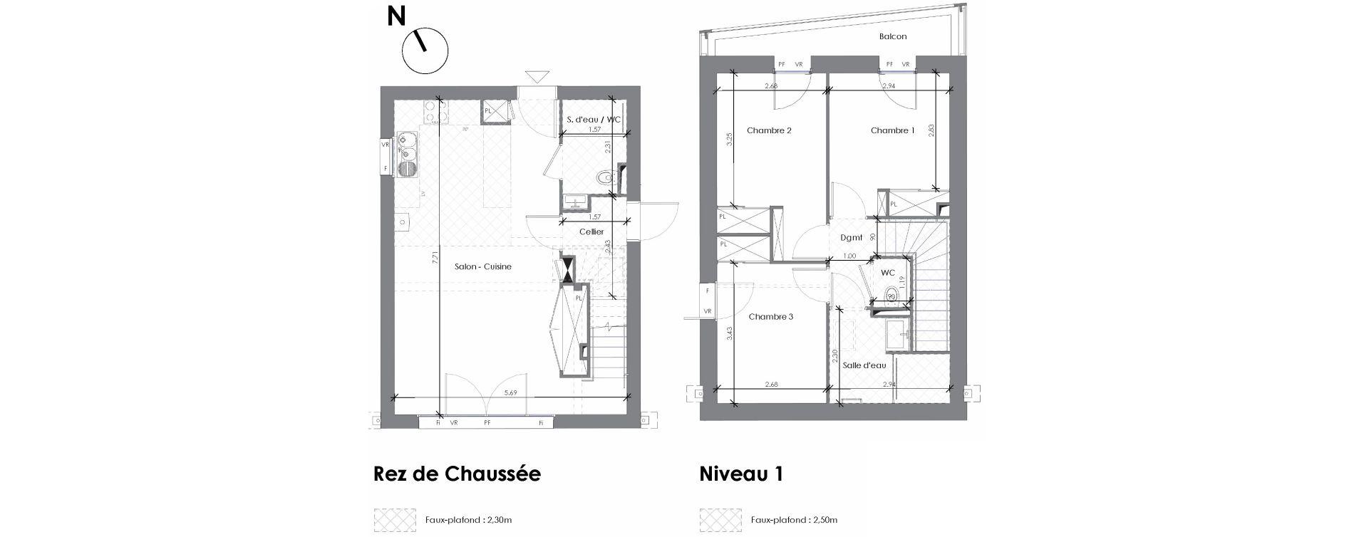 Maison T4 de 80,56 m2 à Artigues-Près-Bordeaux Centre