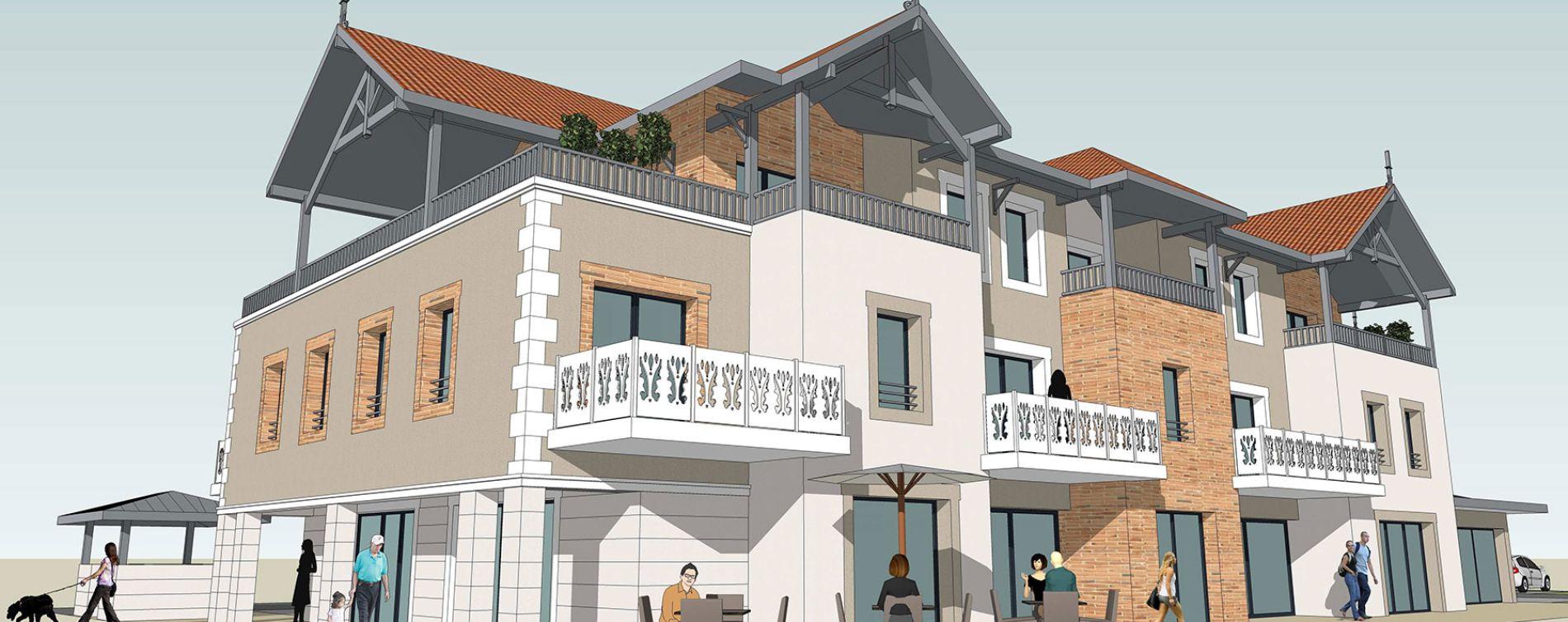 Audenge : programme immobilier neuve « AuxAnges » en Loi Pinel