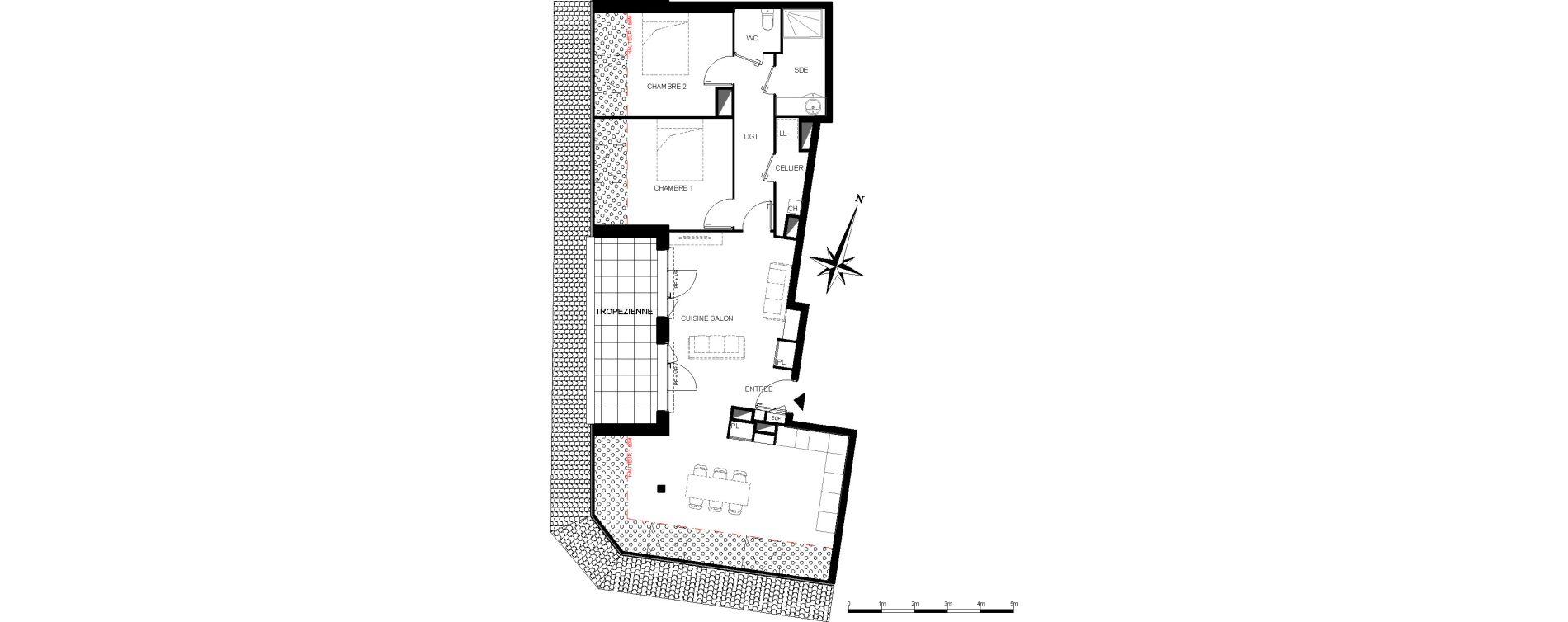 Appartement T3 de 78,00 m2 à Bègles La ferrade