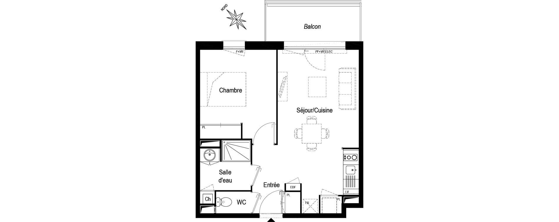 Appartement T2 de 42,33 m2 à Biganos Centre