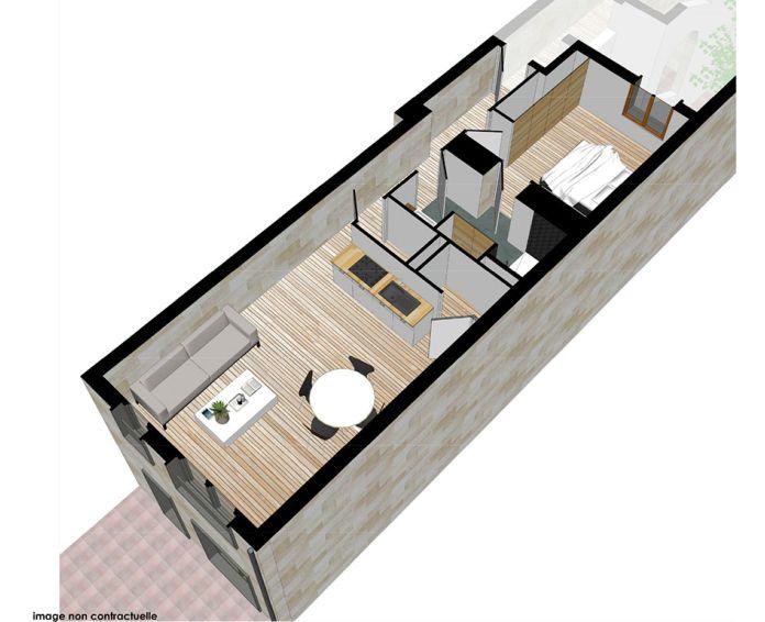 Plan T2 neuf à Bordeaux de