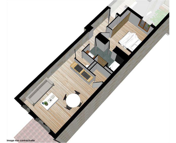 Appartement t2 bordeaux n 564 sud programme for Bordeaux t2