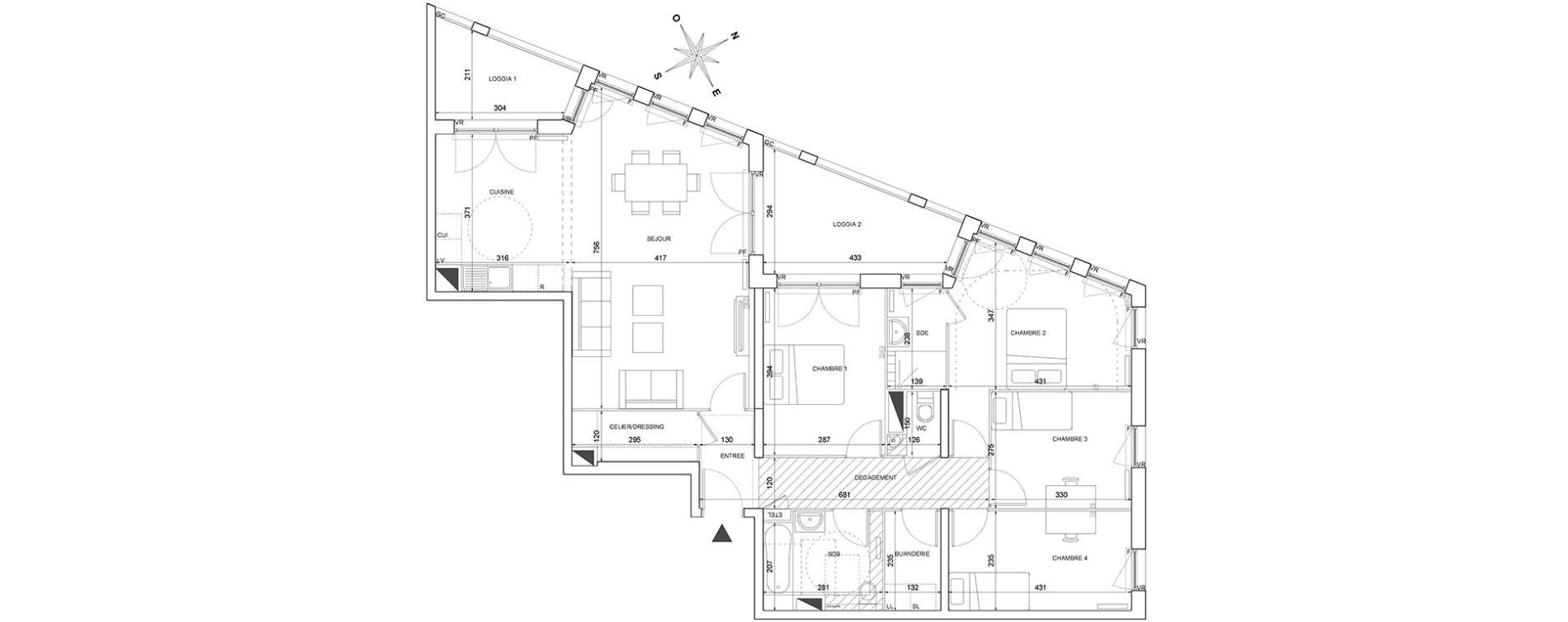Plan T5 neuf à Bordeaux de