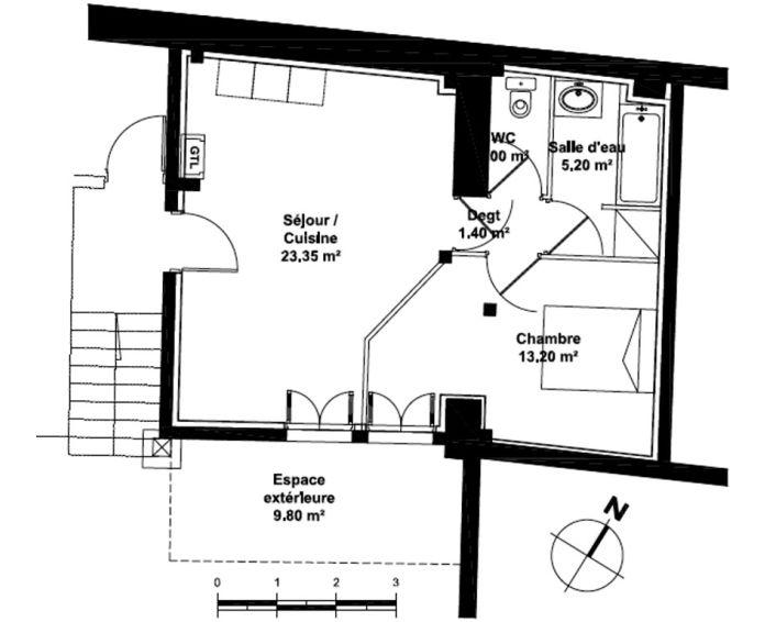Appartement t2 bordeaux n 035 sud est programme for Achat appartement bordeaux bastide