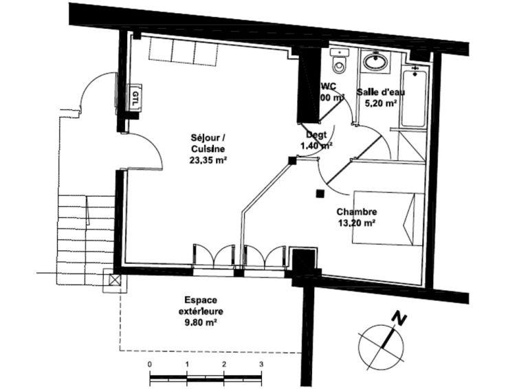 Appartement t2 le clos de la bastide bordeaux for Appartement neuf bordeaux bastide