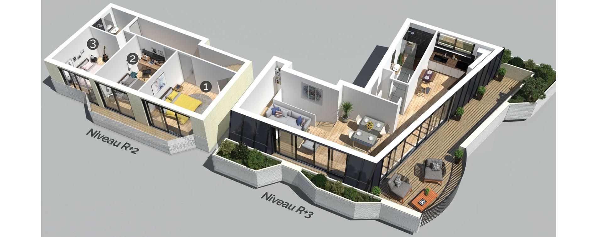 Plan T4 neuf à Bordeaux de