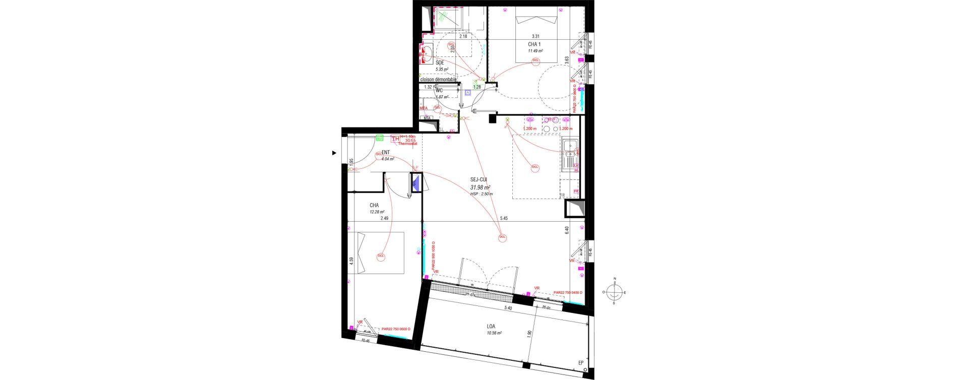 plan appartement vr