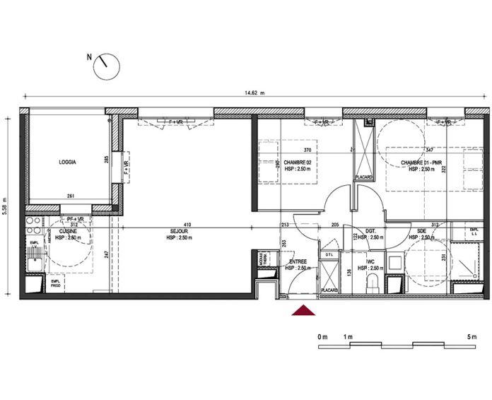 Appartement t3 bordeaux n 465 nord est for Appartement bordeaux nord