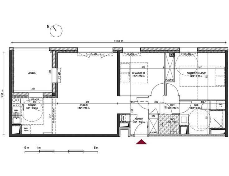 Appartement t3 riv o contemporain bordeaux for Appartement neuf bordeaux bastide