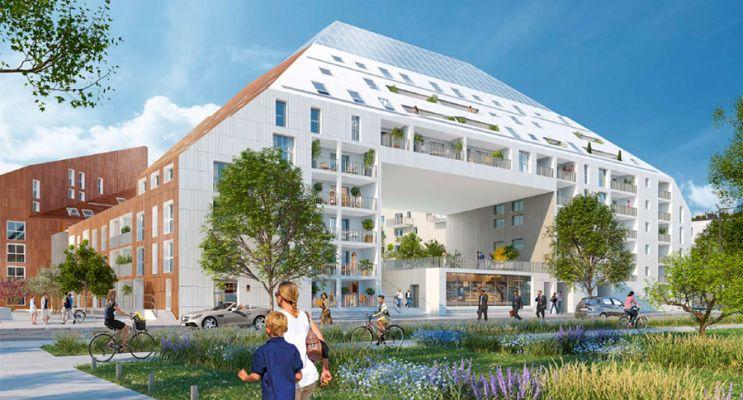 Photo n°1 du Résidence « Rivéo - Cosmopolitain » programme immobilier neuf en Loi Pinel à Bordeaux