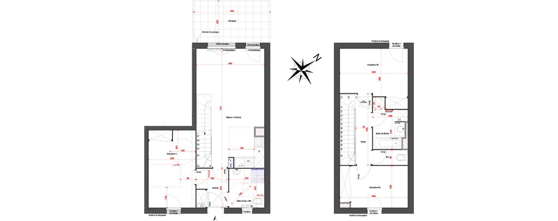 Maison T4 de 81,40 m2 à Cambes Centre