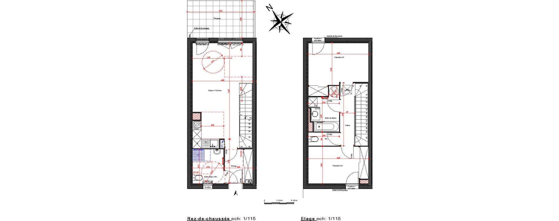 Maison T3 de 68,50 m2 à Cambes Centre