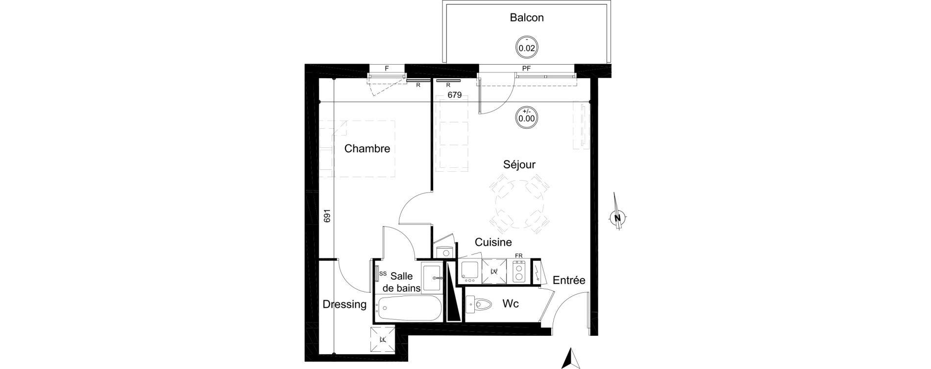Appartement T2 de 41,65 m2 à Carignan-De-Bordeaux Centre