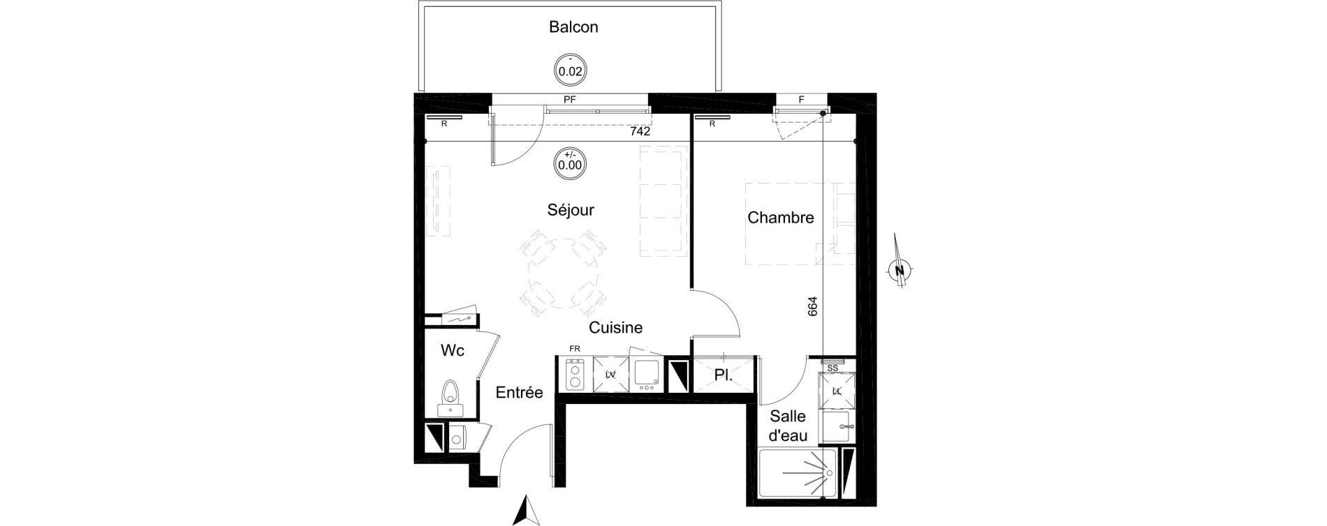 Appartement T2 de 40,15 m2 à Carignan-De-Bordeaux Centre