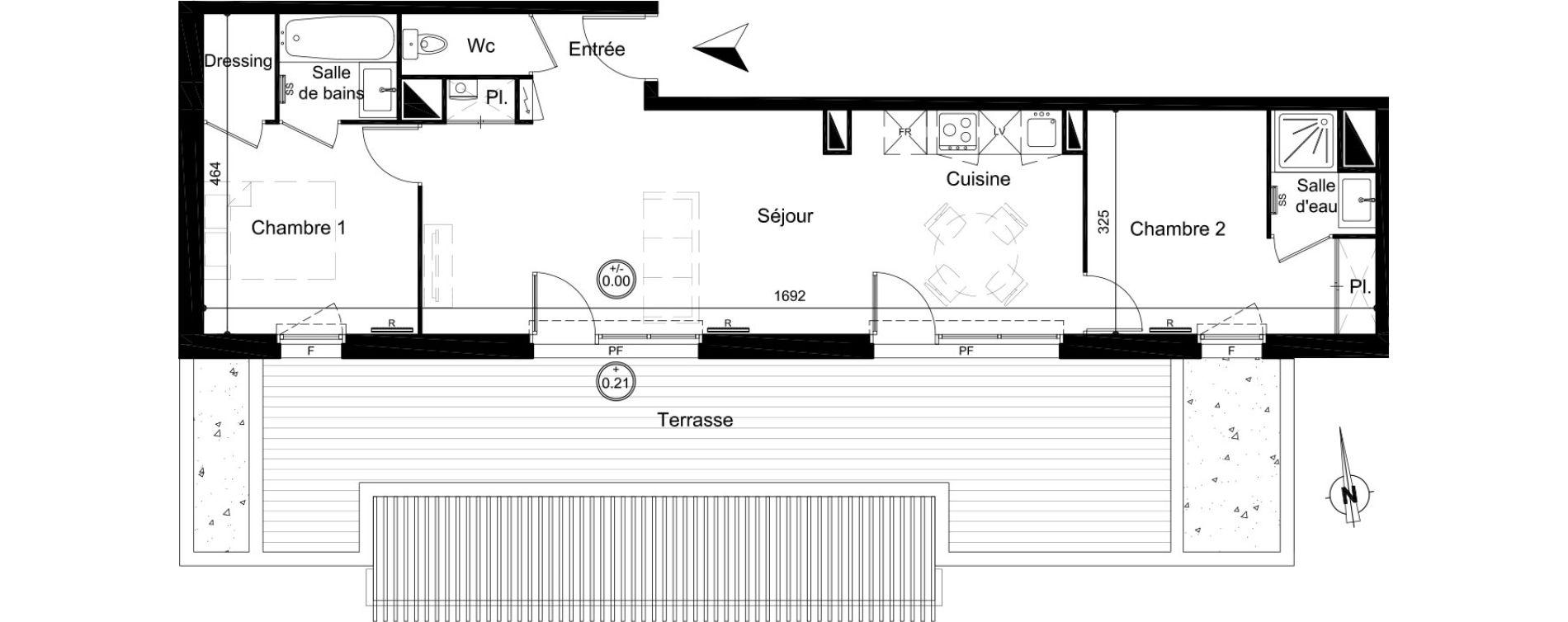 Appartement T3 de 61,35 m2 à Carignan-De-Bordeaux Centre