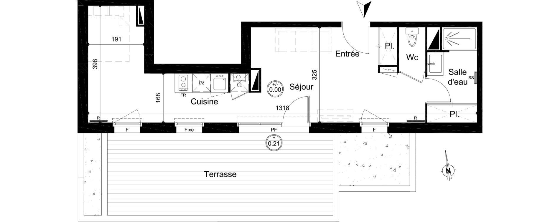 Appartement T1 de 37,35 m2 à Carignan-De-Bordeaux Centre