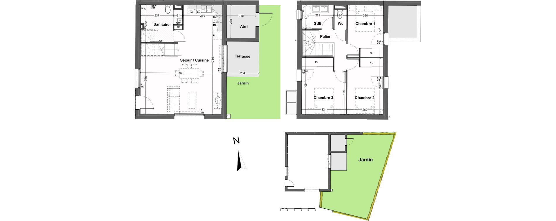 Maison T4 de 84,61 m2 au Taillan-Médoc Sud-est