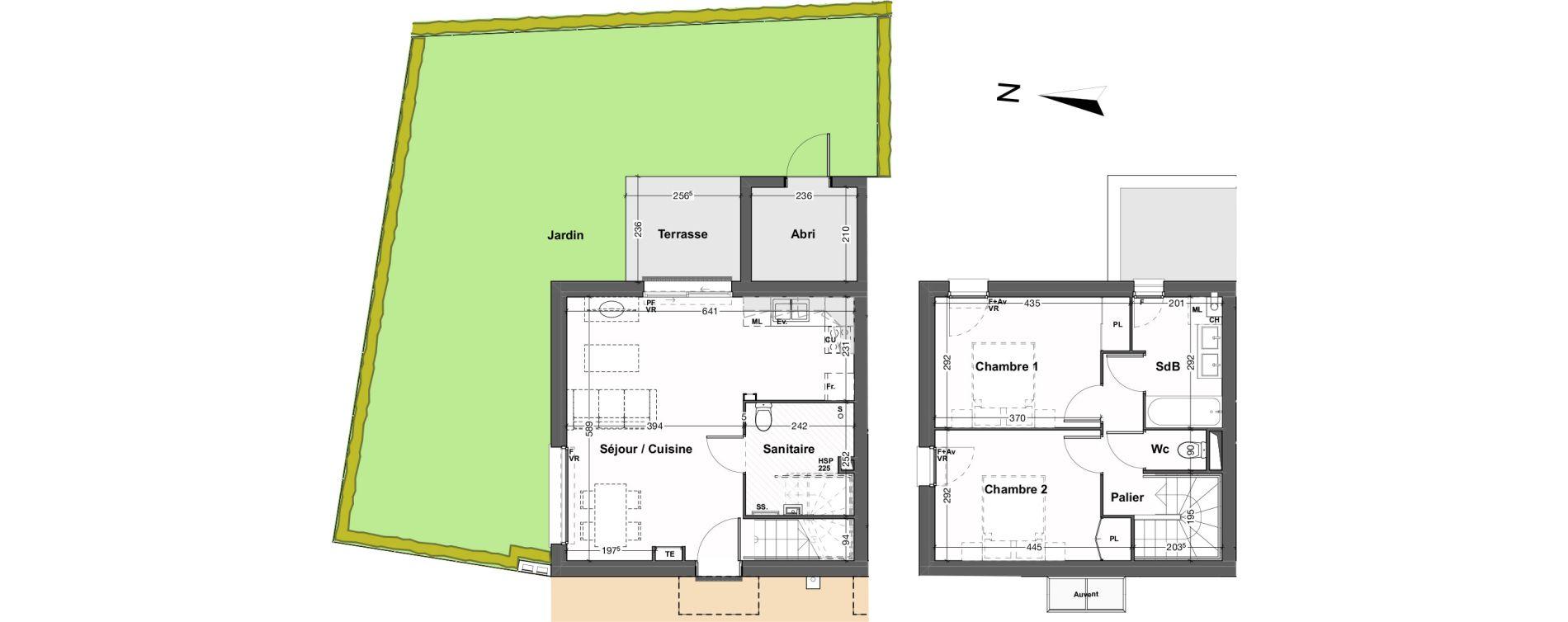 Maison T3 de 67,27 m2 au Taillan-Médoc Sud-est