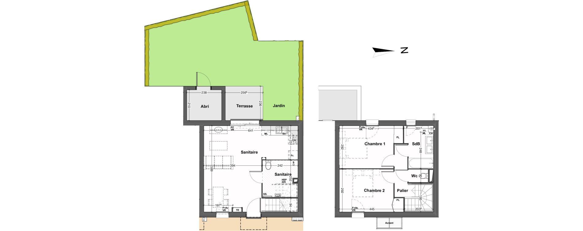 Maison T3 de 67,29 m2 au Taillan-Médoc Sud-est
