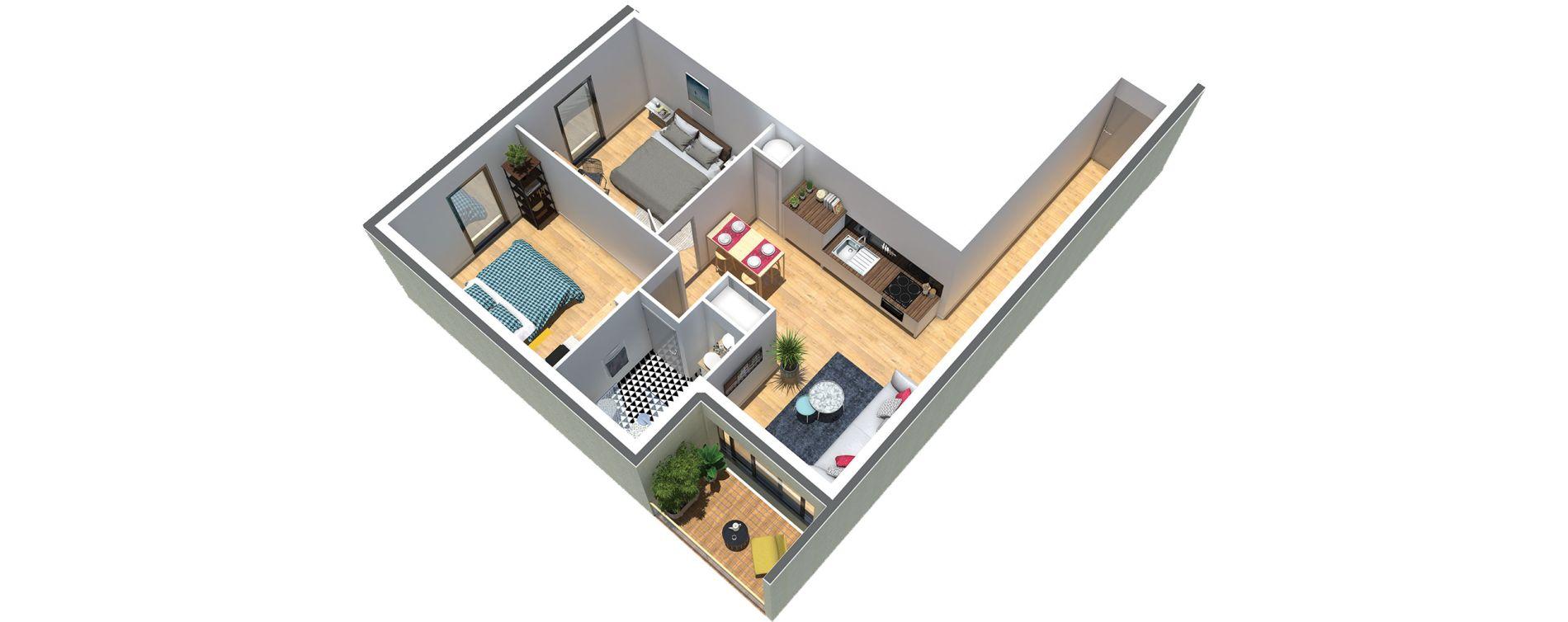 Appartement T3 de 55,00 m2 au Taillan-Médoc Centre