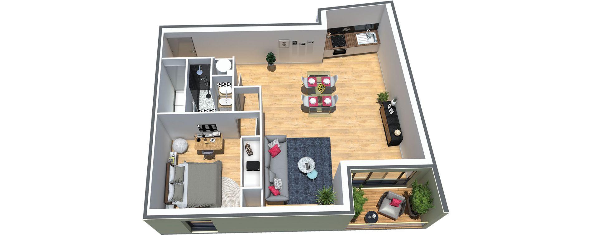 Appartement T2 de 56,00 m2 au Taillan-Médoc Centre