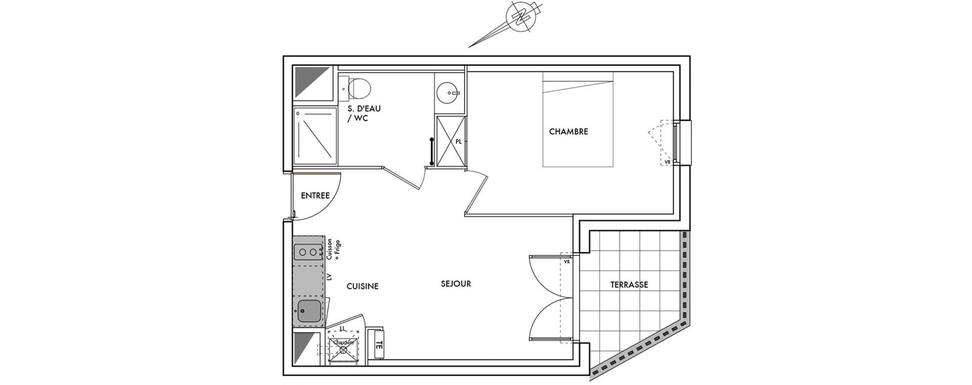 Plan T2 neuf au Teich de