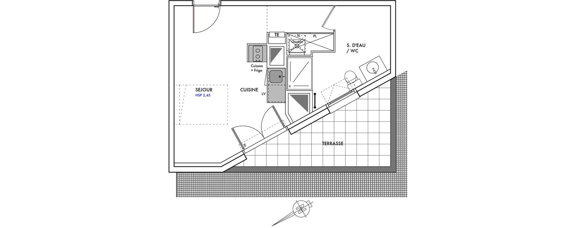 Plan T1 neuf au Teich de