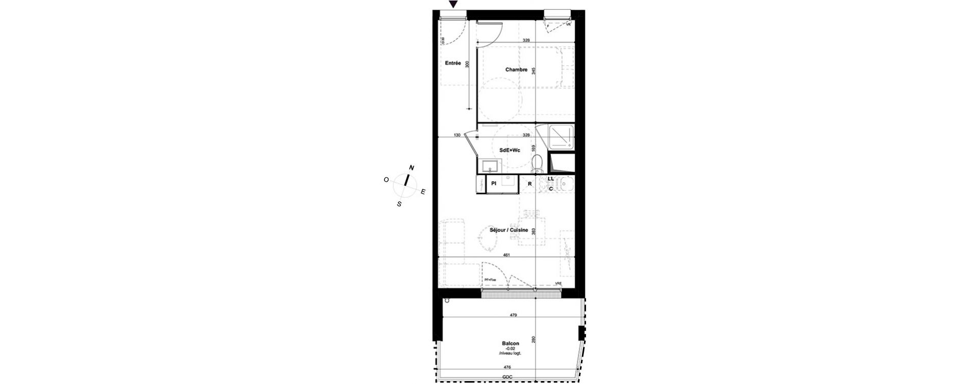 Plan T2 neuf à Lormont de