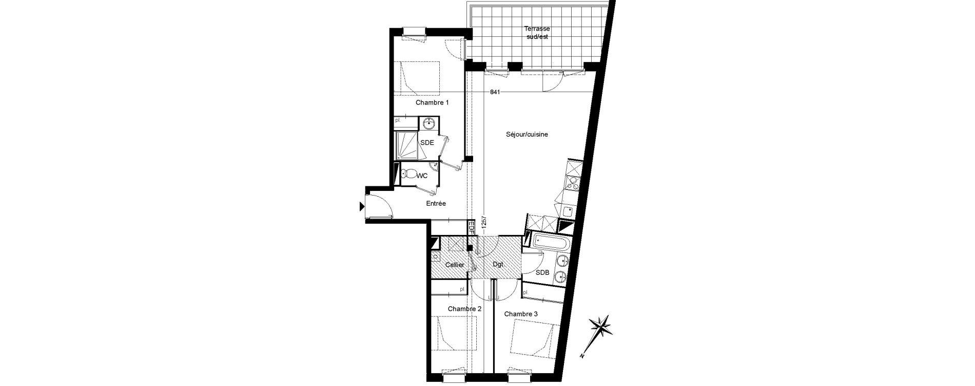 Appartement T4 de 85,97 m2 à Martignas-Sur-Jalle Centre