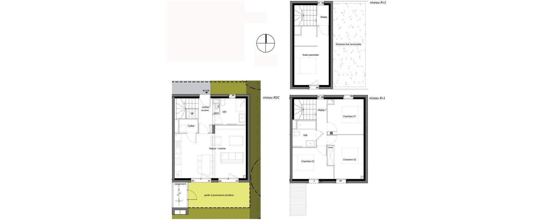 Appartement T5 de 96,11 m2 à Mérignac Les eyquems