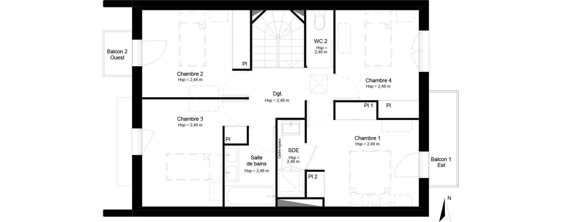 Villa T5 de 113,61 m2 à Mérignac Merignac centre