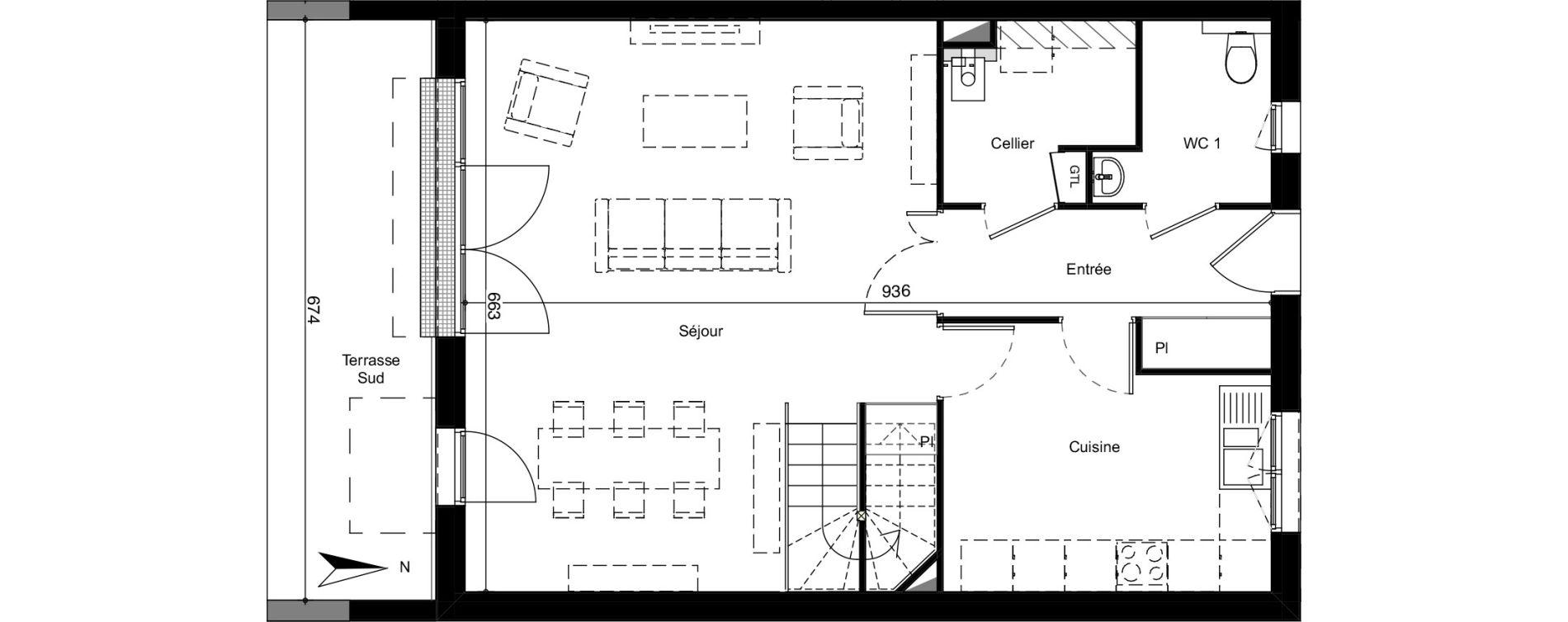 Villa T5 de 113,79 m2 à Mérignac Merignac centre