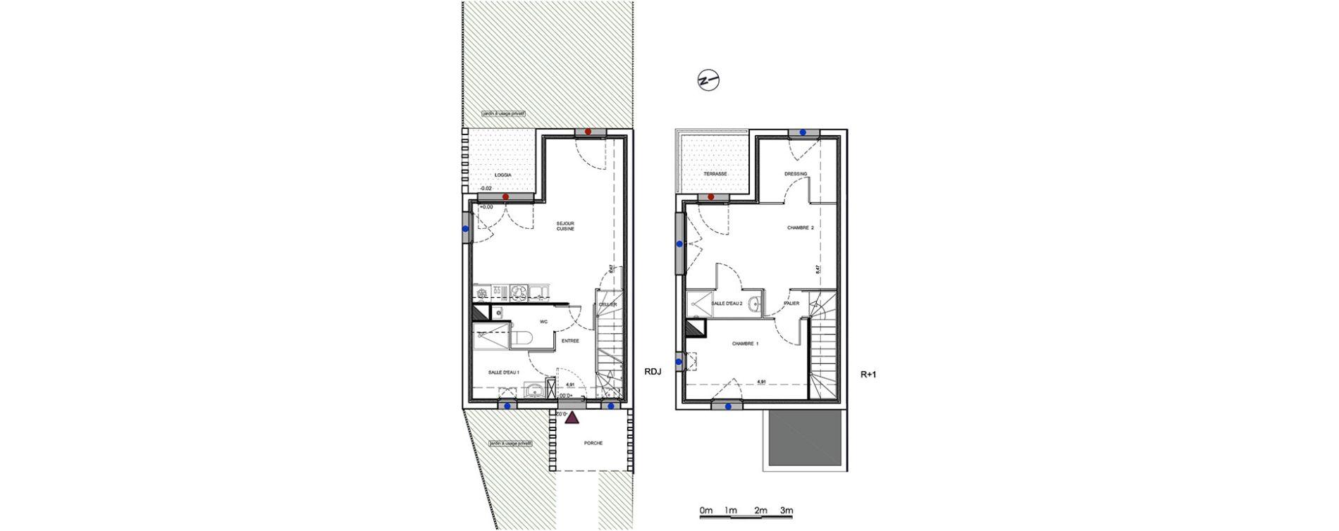 Plan T3 neuf à Parempuyre de