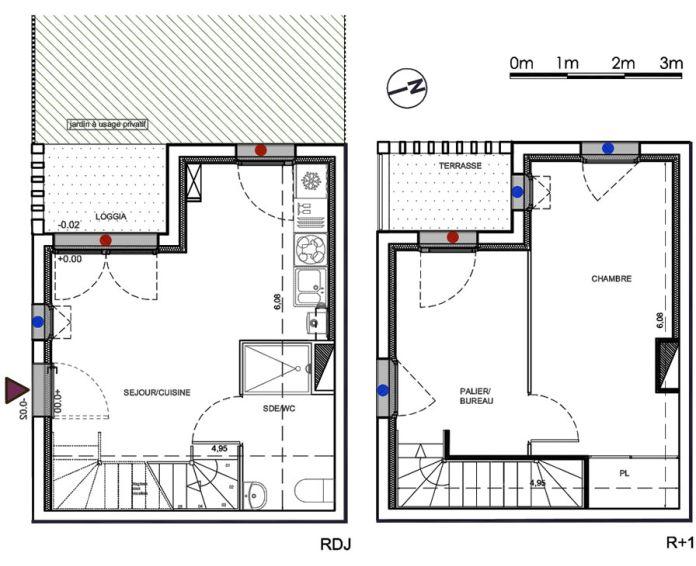 Plan T2 neuf à Parempuyre de