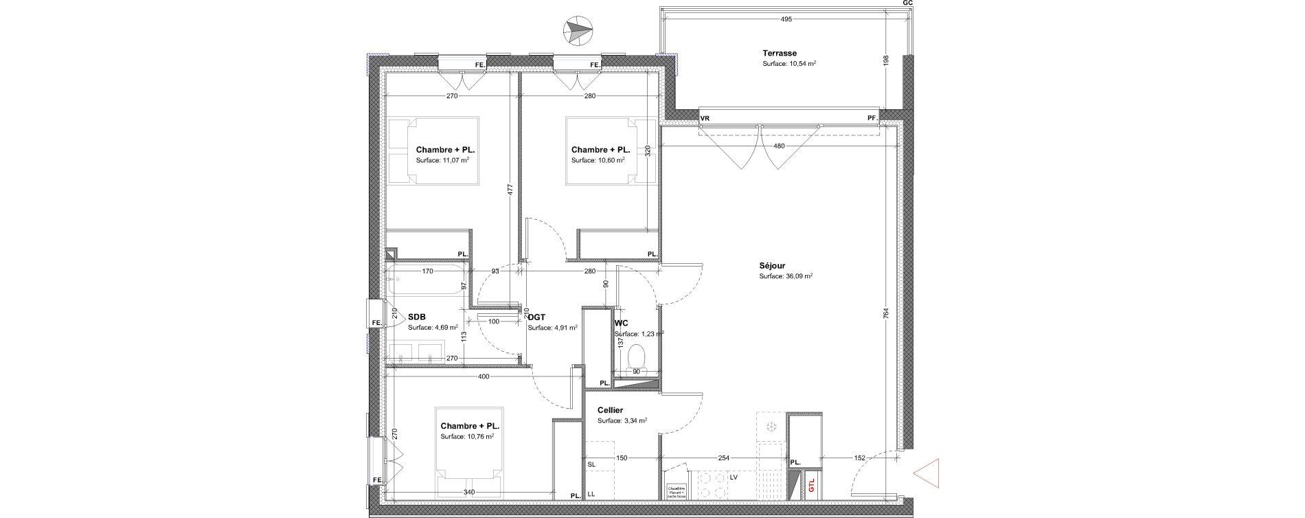 Appartement T4 de 82,69 m2 à Parempuyre Centre