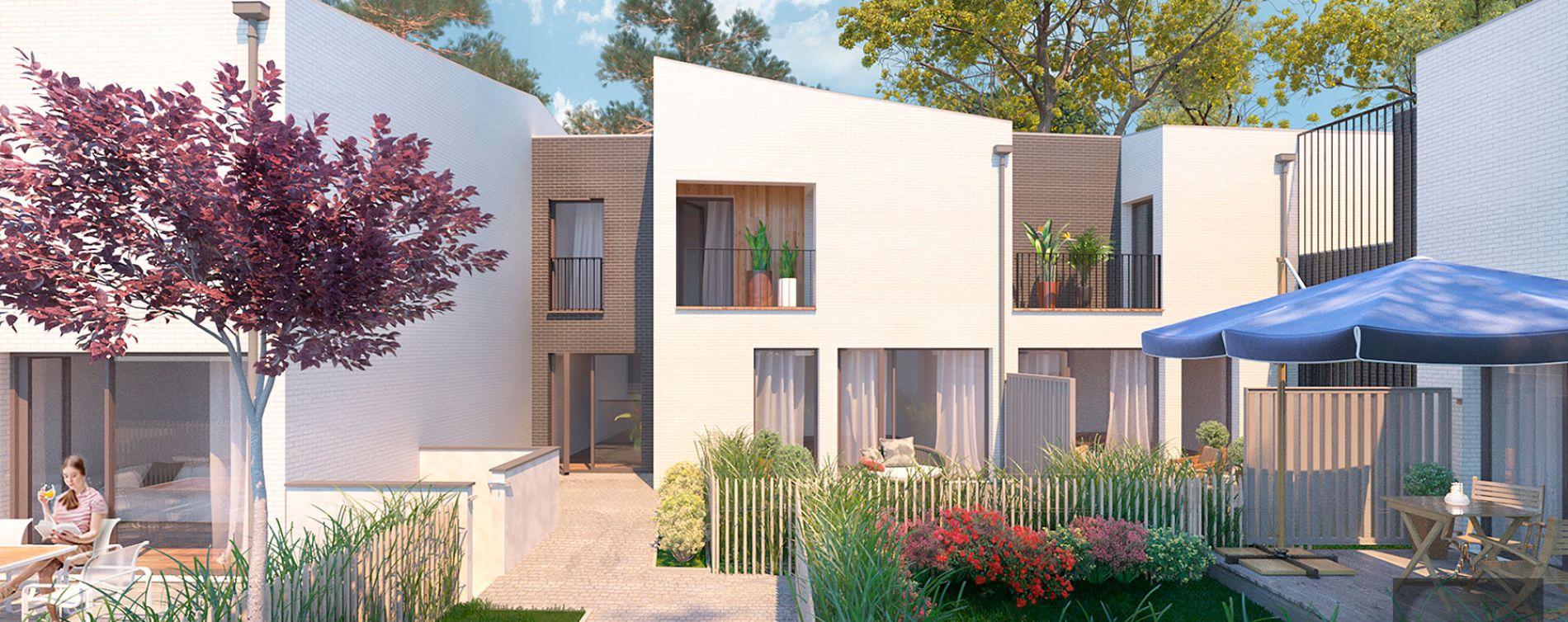 Pessac : programme immobilier neuve « Les Jardins de Noès » en Loi Pinel (2)