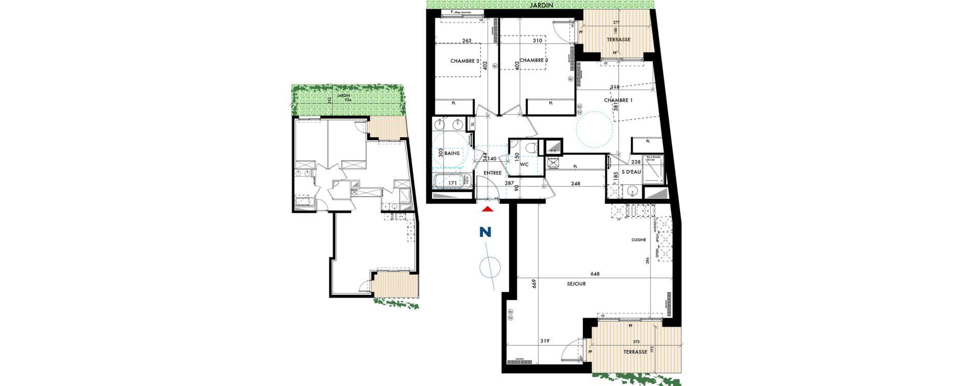 Appartement T4 de 97,71 m2 à Talence Centre