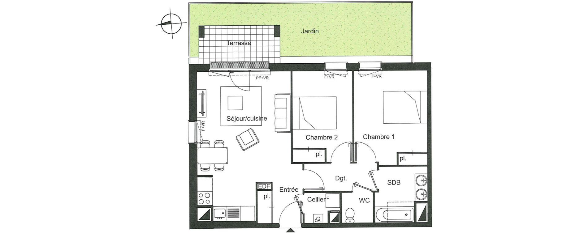 Appartement T3 de 62,57 m2 à Villenave-D'Ornon Le bocage