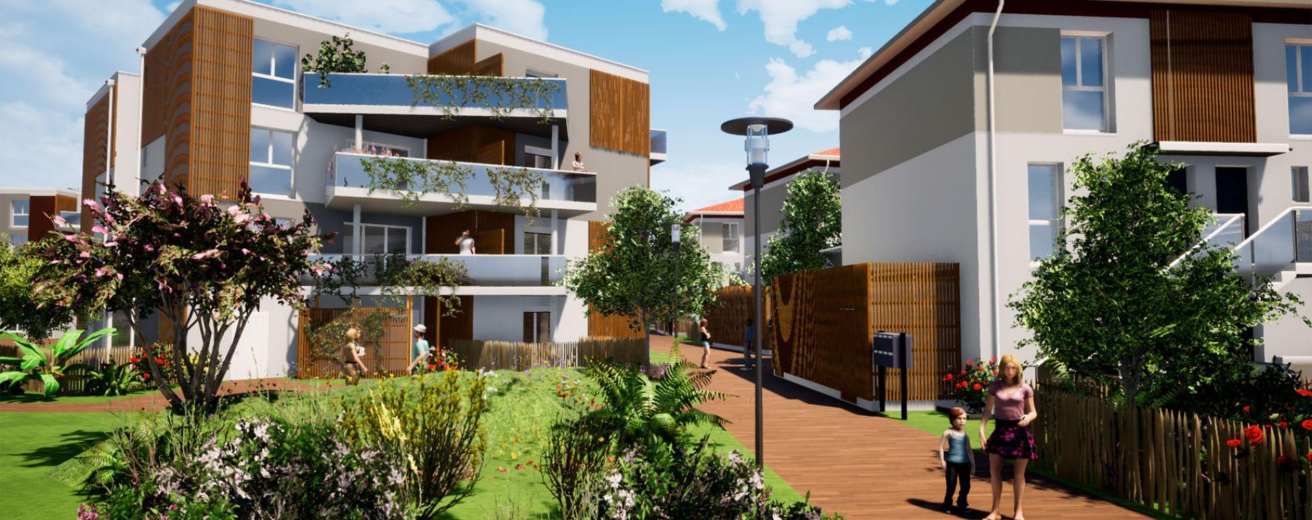 Villenave-d'Ornon : programme immobilier neuve « Domaine de Beunon » en Loi Pinel (2)