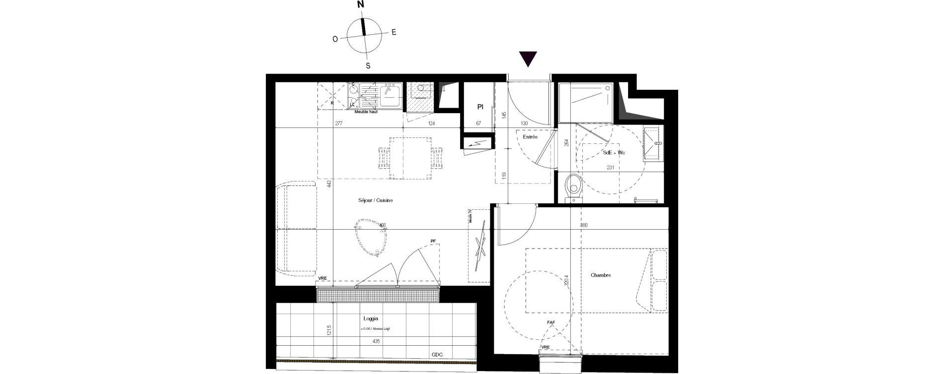 Appartement T2 de 40,90 m2 à Villenave-D'Ornon Centre