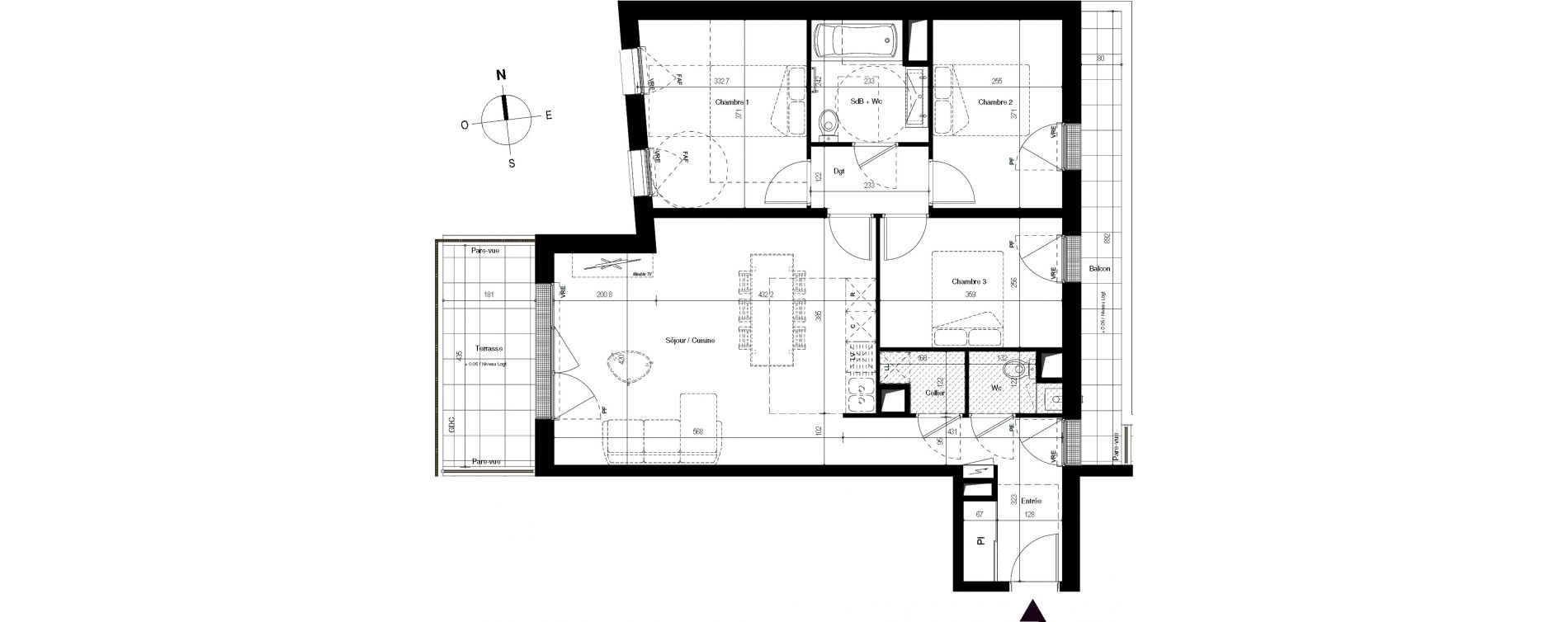 Appartement T4 de 79,16 m2 à Villenave-D'Ornon Centre