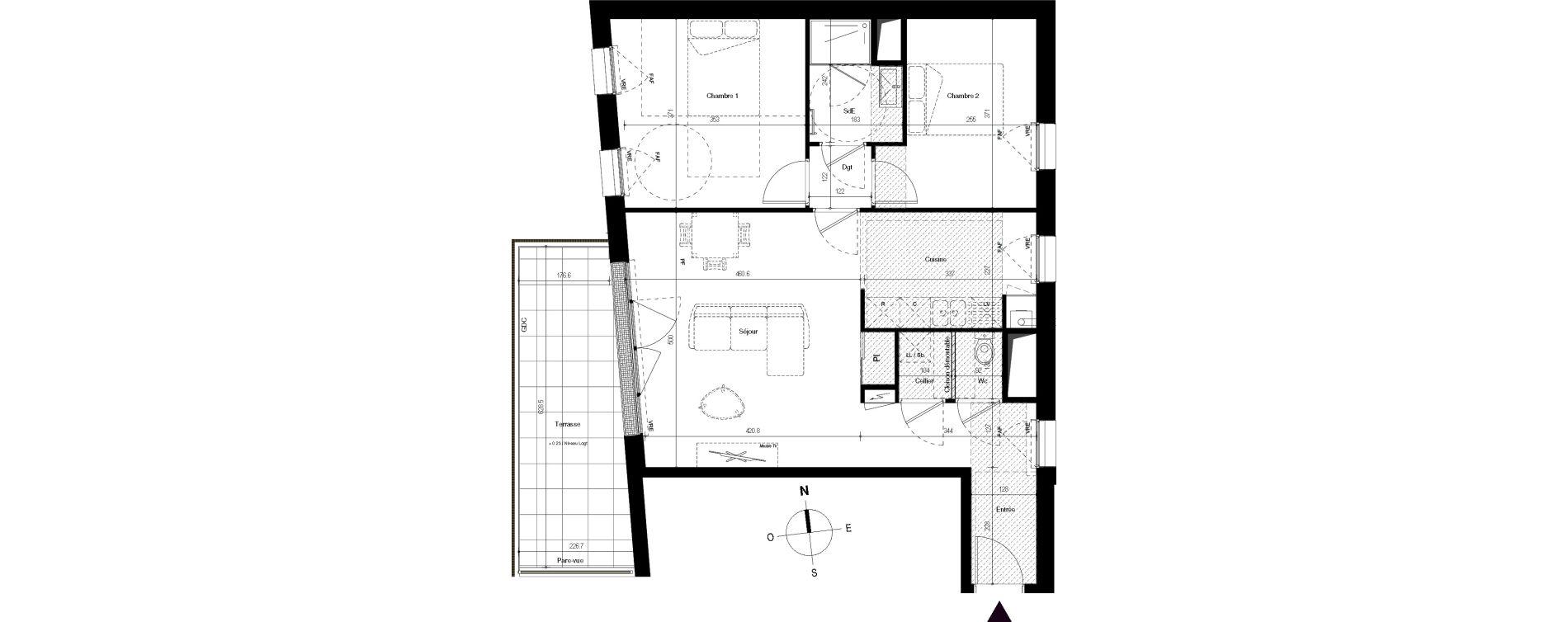 Appartement T3 de 69,52 m2 à Villenave-D'Ornon Centre