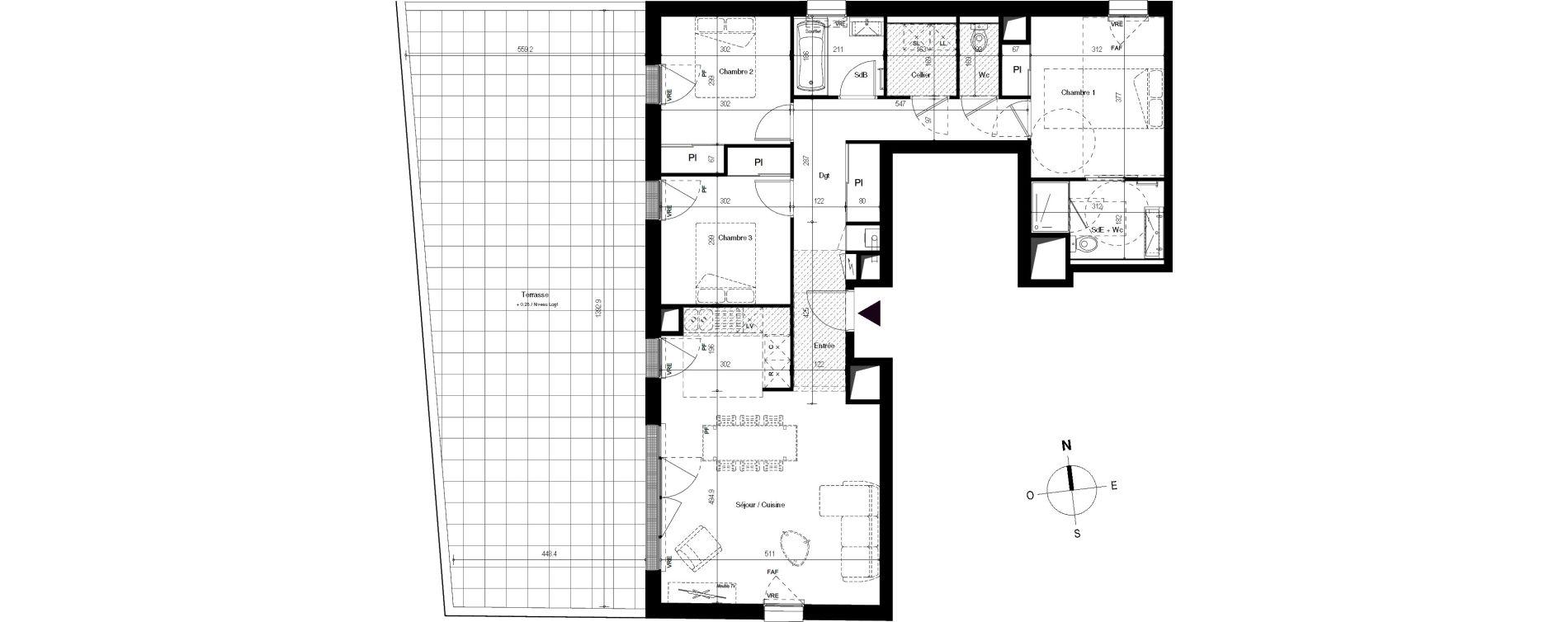 Appartement T4 de 91,07 m2 à Villenave-D'Ornon Centre