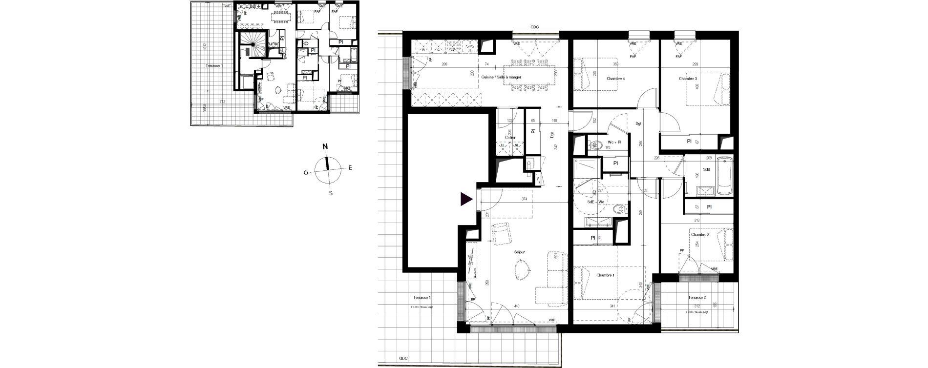 Appartement T5 de 122,98 m2 à Villenave-D'Ornon Centre