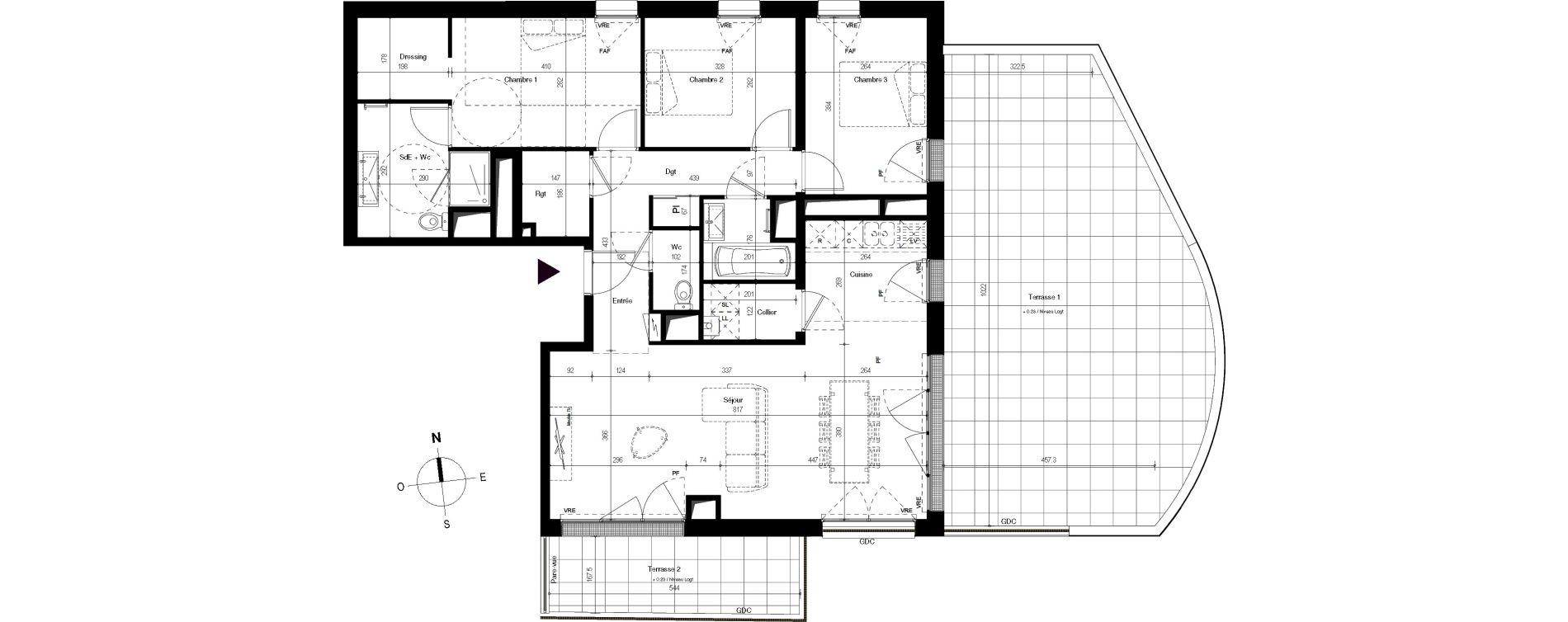 Appartement T4 de 97,96 m2 à Villenave-D'Ornon Centre
