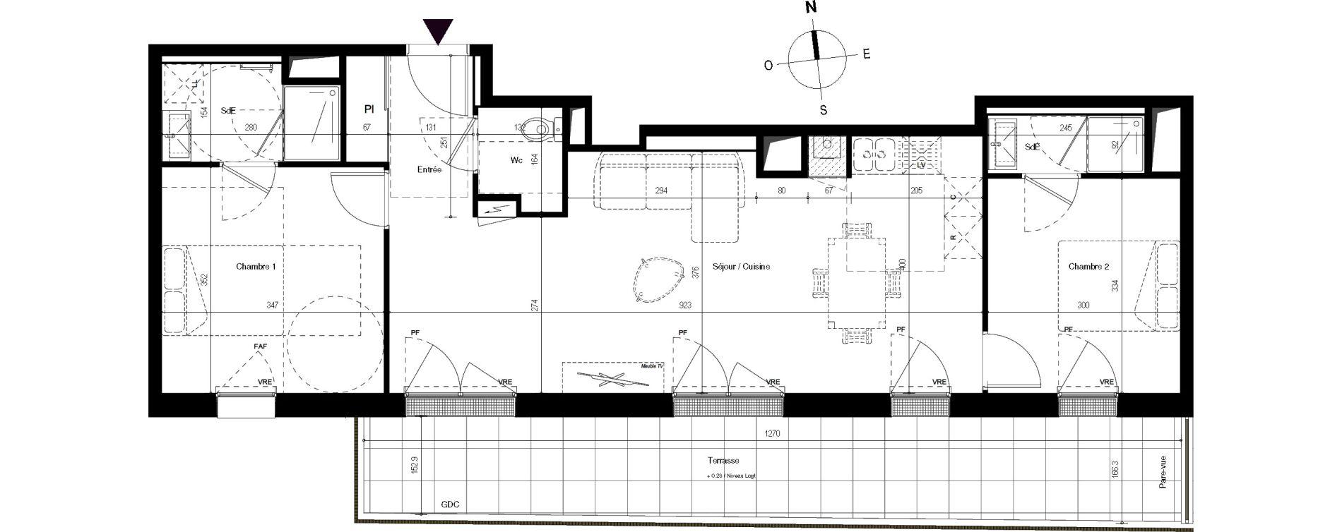 Appartement T3 de 67,04 m2 à Villenave-D'Ornon Centre