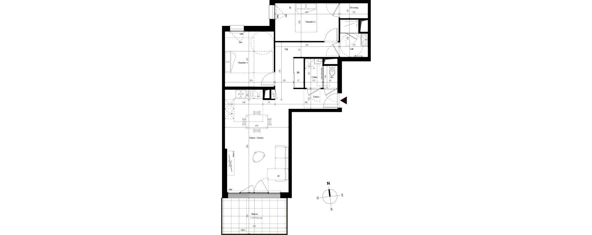 Appartement T3 de 69,77 m2 à Villenave-D'Ornon Centre