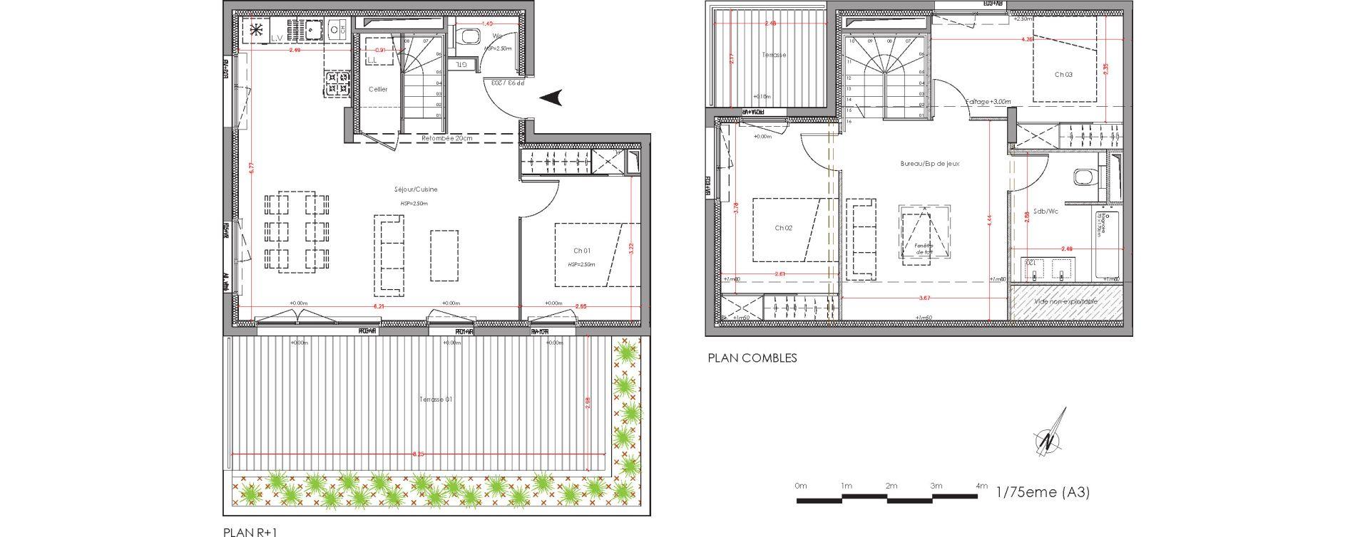 Duplex T4 de 87,18 m2 à Villenave-D'Ornon Centre